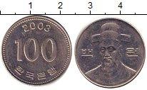 Изображение Дешевые монеты Южная Корея 100 вон 2003 Медно-никель XF