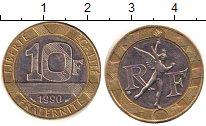 Изображение Дешевые монеты Франция 10 франков 1990 Биметалл AUNC