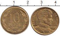 Изображение Дешевые монеты Чили 10 песо 2008 Медно-никель XF