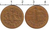 Изображение Барахолка Барбадос 5 центов 1973 Медно-никель XF-