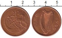 Изображение Дешевые монеты Ирландия 2 пенса 1990 Медь XF-