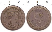 Изображение Барахолка Маврикий 1 рупия 1987 Медно-никель Fine