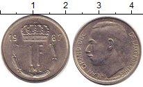 Изображение Дешевые монеты Люксембург 1 франк 1987 Медно-никель VF+