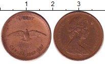 Изображение Дешевые монеты Канада 1 цент 1967 Медь XF