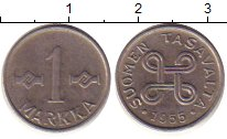 Изображение Дешевые монеты Финляндия 1 марка 1955 Медно-никель XF-