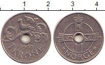 Изображение Барахолка Норвегия 1 крона 1997 Медно-никель XF
