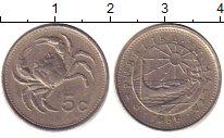 Изображение Дешевые монеты Мальта 5 центов 1986 Медно-никель XF-