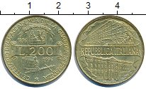 Изображение Дешевые монеты Италия 200 лир 1996 Латунь-сталь XF+