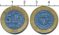 Изображение Дешевые монеты Доминиканская республика 5 песо 2002 Биметалл VF+