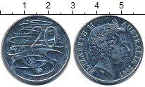 Изображение Дешевые монеты Австралия 20 центов 2007 Медно-никель VF+