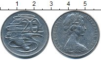 Изображение Дешевые монеты Австралия 20 центов 1981 Медно-никель XF-