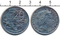 Изображение Дешевые монеты Австралия 20 центов 2008 Медно-никель VF