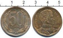 Изображение Дешевые монеты Чили 50 песо 1998 Латунь-сталь VF+