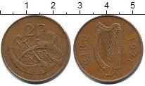 Изображение Дешевые монеты Ирландия 2 пенса 1971 Латунь XF