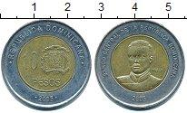 Изображение Барахолка Доминиканская республика 10 песо 2005 Биметалл XF