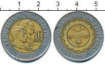 Изображение Барахолка Филиппины 10 песо 2002 Биметалл XF