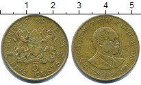 Изображение Барахолка Кения 5 центов 1989 Латунь XF-