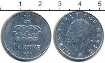 Изображение Барахолка Норвегия 1 крона 1988 Медно-никель XF