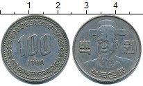 Изображение Барахолка Южная Корея 100 вон 1980 Медно-никель XF