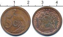 Изображение Дешевые монеты ЮАР 5 центов 1990 Медь XF