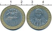 Изображение Дешевые монеты Чили 100 песо 2014 Биметалл XF
