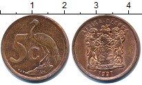 Изображение Дешевые монеты ЮАР 5 центов 1997 Медь XF