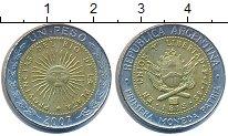 Изображение Барахолка Аргентина 1 песо 2007 Биметалл XF