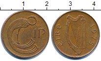 Изображение Дешевые монеты Ирландия 1 пенни 1975 Латунь XF