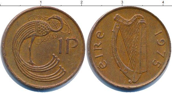 Картинка Дешевые монеты Ирландия 1 пенни Латунь 1975