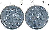 Изображение Дешевые монеты Норвегия 50 эре 1973 Медно-никель XF
