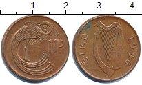 Изображение Дешевые монеты Ирландия 1 пенни 1988 Медь XF-