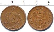 Изображение Дешевые монеты ЮАР 5 центов 2003 Медь XF-
