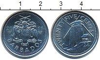 Изображение Барахолка Барбадос 25 центов 2011 Медно-никель XF
