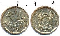 Изображение Дешевые монеты ЮАР 10 центов 1993 Латунь XF+