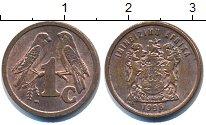 Изображение Барахолка ЮАР 1 цент 1996 Медь XF+