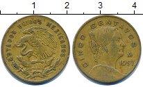 Изображение Барахолка Мексика 5 сентаво 1957 Латунь XF
