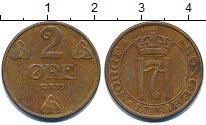Изображение Дешевые монеты Норвегия 2 эре 1950 Медь XF-