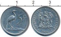 Изображение Дешевые монеты ЮАР 5 центов 1974 Медно-никель XF