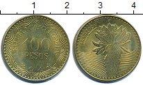 Изображение Дешевые монеты Колумбия 100 песо 2014 Латунь-сталь XF+