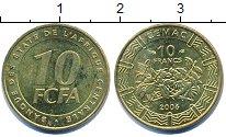 Изображение Барахолка Центральная Африка 10 франков 2006 Латунь XF