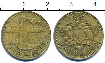 Изображение Барахолка Барбадос 5 центов 1973 Латунь VF