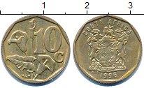 Изображение Дешевые монеты ЮАР 10 центов 1996 Латунь XF