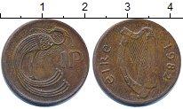 Изображение Дешевые монеты Ирландия 1 пенни 1982 Медь XF-