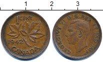 Изображение Дешевые монеты Канада 1 цент 1942 Медь XF-