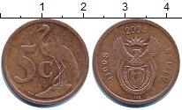 Изображение Дешевые монеты ЮАР 5 центов 2004 Медь XF