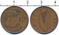 Изображение Дешевые монеты Ирландия 1 пенни 1971 Медь XF-
