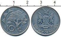 Изображение Барахолка Намибия 10 центов 1998 Медно-никель XF