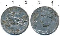 Изображение Дешевые монеты Италия 20 чентезимо 1920 Медно-никель VF+