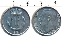 Изображение Дешевые монеты Люксембург 1 франк 1983 Медно-никель XF