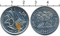 Изображение Дешевые монеты ЮАР 20 центов 1990 Медно-никель XF